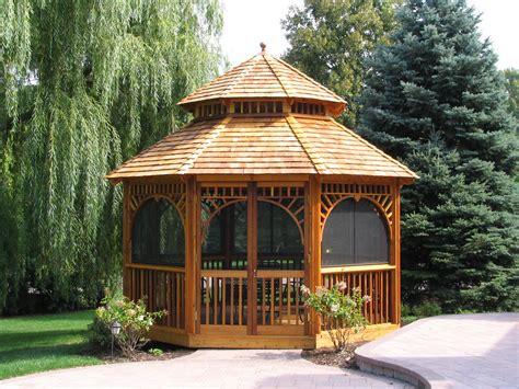 Stunning Screened Gazebos Ideas by Gazebo Garden Shed Plans Building Wood Sheds