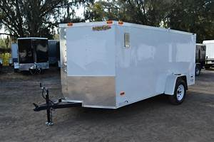 enclosed trailers right trailers new and used cargo With 7x16 garage doors for sale