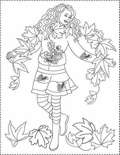 Coloring Pages Autumn Fall Nicole Princess Adult