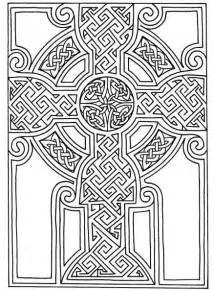 Celtic Cross Coloring Page Printable