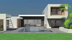 plan maison a toit terrasse plans de maisons d39architecte With lovely maison toit plat en l 0 maison neuve avec piscine toit plat