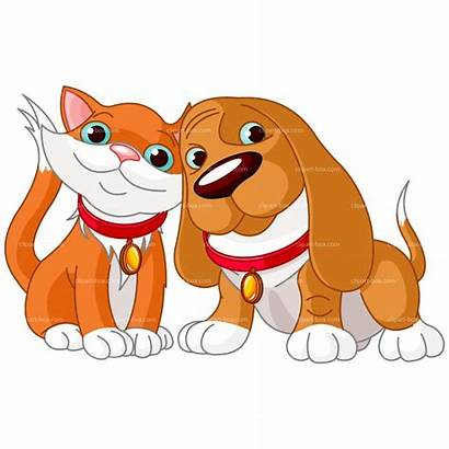 Dogs Cat Clipart Cats Animals Pair Cuddling