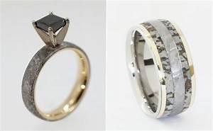 wedding rings made of dinosaur bone meteorite and deer With how wedding rings are made