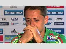 Man United old boy Chicharito cries during an interview