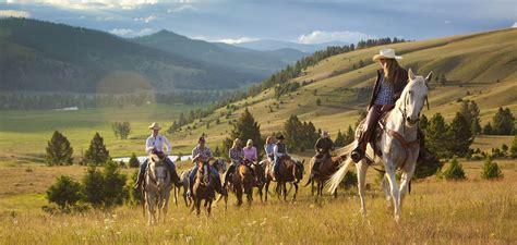 riding horseback ranch montana creek vacation horses trail rock luxury glamping rides rider getaways west vacations hour venuelust nc favorites