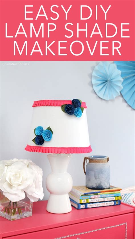diy floral ruffle lamp shade   nest