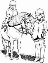Horse Coloring Pages Pony Rider Stall sketch template