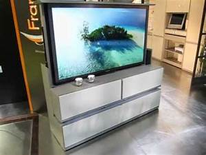 Meuble Tv Ecran Plat : meuble tv cran plat escamotable t l command fran ois desile youtube ~ Teatrodelosmanantiales.com Idées de Décoration