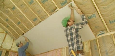 hanging drywall on ceiling plaster how to cut and hang drywall today s homeowner