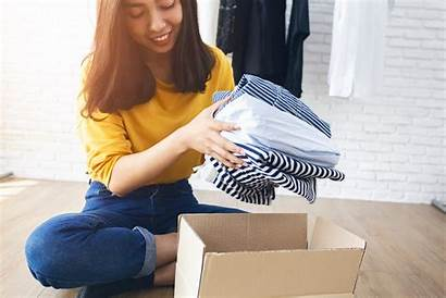 Removing Clothes Woman Young Box
