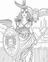Coloring Pages Selina Goddess Fenech Fantasy Adult Griechische Adults Books Athena Print Colouring Printable Godess Malvorlagen Greek Gods Sheets Mythologie sketch template
