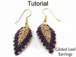 Beading Tutorial Pattern Beaded Earrings Diagonal Peyote