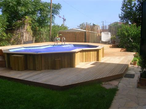 piscine en bois semi enterrée pas cher 50 best above ground pools with decks