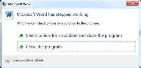 fix microsoft office word  stopped working
