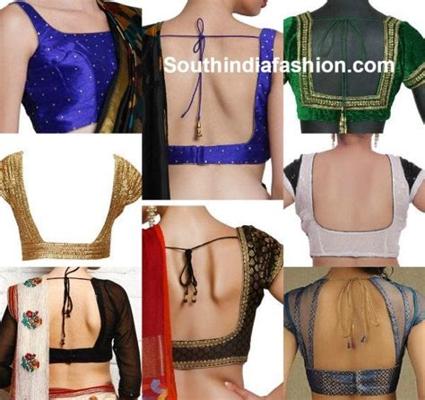 blouse neck designs south india fashion