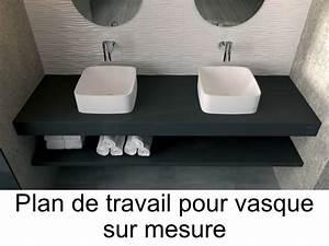vasques plan vasque plan de travail sur mesure en resine With plan de travail salle de bain avec vasque