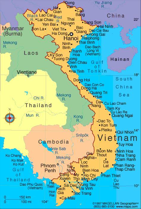 political maps  vietnam
