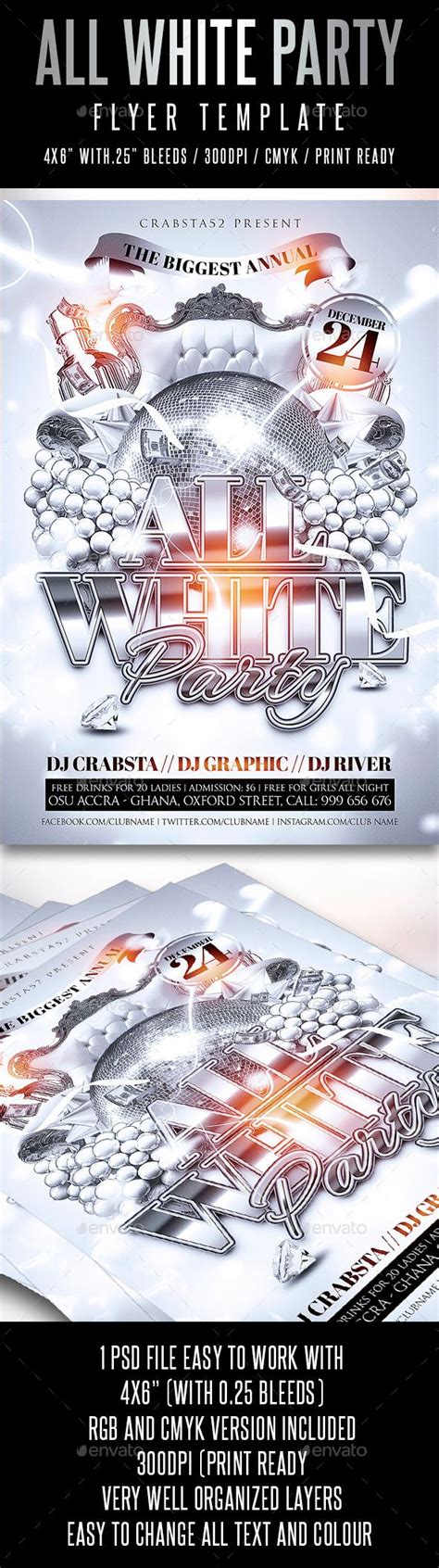 white party flyer template flyer template flyers