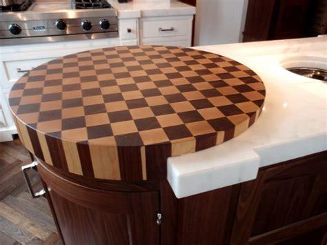 kitchen island with cutting board top end grain wood countertops by custom