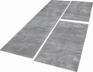 Flur Teppich Grau : bettumrandung teppich einfarbig mit handgearbeitetem konturenschnitt uni grau teppiche ~ Indierocktalk.com Haus und Dekorationen