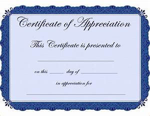 7 certificate of appreciation template free teknoswitch With gratitude certificate template