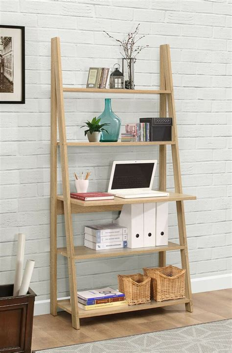 Ladder Bookcase Uk by Birlea Nordic Scandinavian Retro Ladder Bookcase Desk