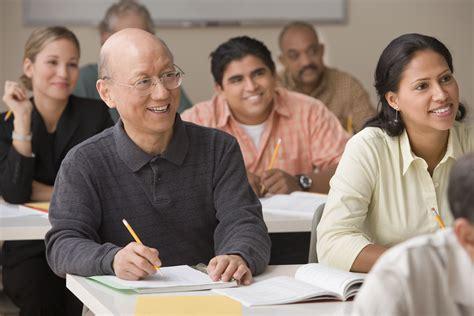 Adult Classroom Students