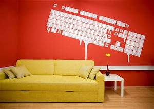 Colorful offices of creative studio 3fs for Office wall art