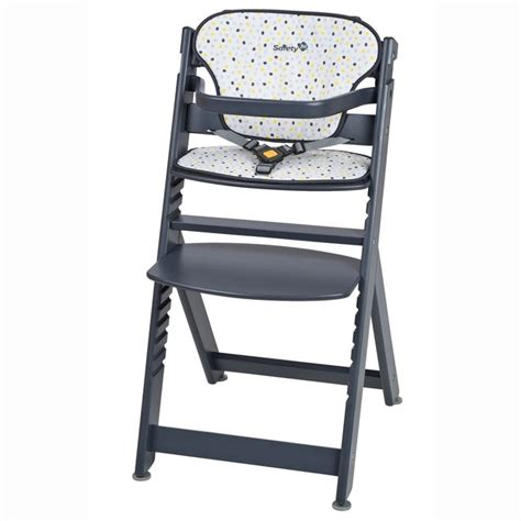 chaise haute bébé en bois chaise haute bébé bois timba coussin gris safety la redoute