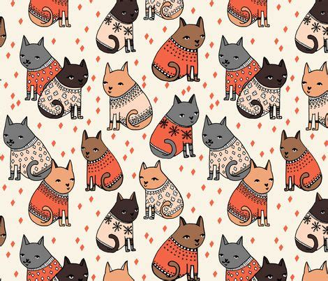 cat patterns cats at a sweater by andrea my world