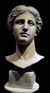 Aphrodite of Melos head bust sculpture