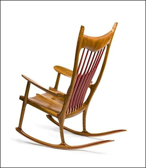 Maloof Rocking Chair Dimensions by Maloof Inspired Rocking Chair Walnut With Purple