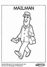 Mailman Coloring Drawing Worksheets Pages Printables Printable Drawings Kidloland Getdrawings sketch template