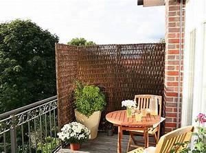Sichtschutz balkon balkonerlebnis bauende for Markise balkon mit putz auf tapete