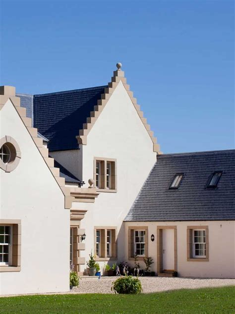 crow stepped roof detailing house styles rendered house small house uk