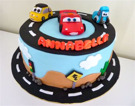 birthday cake with cars poster
