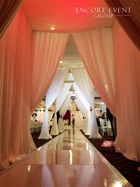 Michigan Wedding Tunnel Draping Idea  Encore Event Group