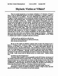 is shylock a victim or a villain