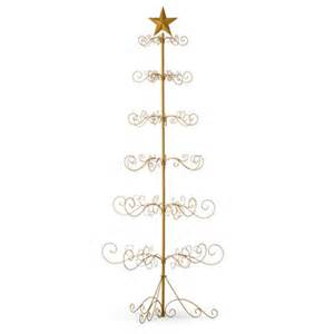 festive metal ornament display tree gold or black decoration ebay