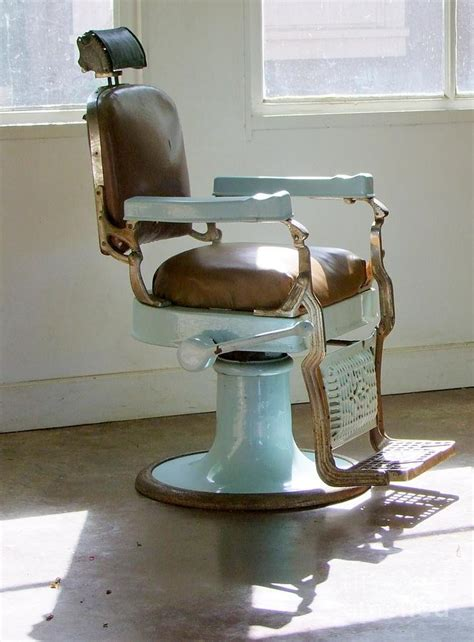 antique barber chair photograph by deal