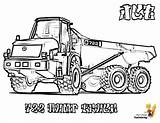 Coloring Truck Construction Pages Jcb Dump Vehicle Printable Road Yescoloring Print Articulated Excavators Work John Deere Coolest sketch template