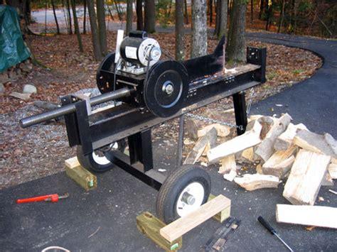 homemade wood splitter plans  woodworking