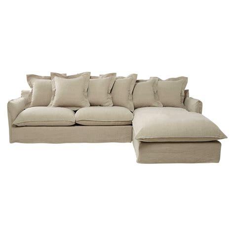 canape d angle beige canapé d 39 angle 7 places en lavé beige ficelle