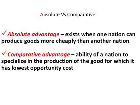 Absolute Advantage Vs Comparative Advantage