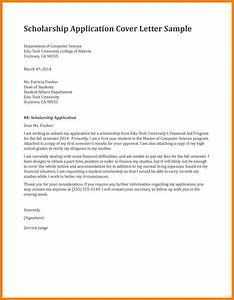 8 application letter for scholarship in college time With how to make a cover letter for a scholarship application
