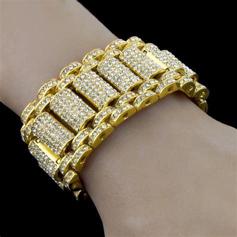 Iced Out Gold Bracelets