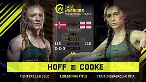 Cwse23 - Cooke Vs Hoff - 115lbs Amateur Mma Title Contest