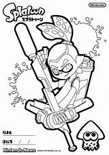 Splatoon Coloring Pages Freecoloringpages Larger Credit sketch template