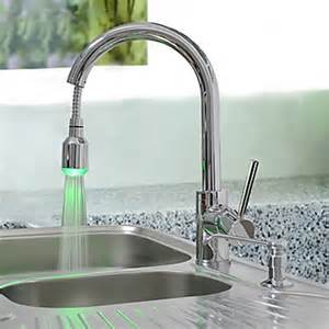 changing kitchen sink faucet faucets images brass pull kitchen faucet with color changing led light wallpaper