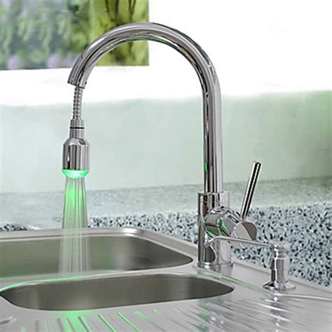 changing a kitchen sink faucet brass pull kitchen faucet with color changing led